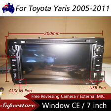 "7"" Car DVD GPS Navigation head unit player bt Stereo For Toyota Yaris 2005-2011"