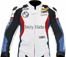 BMW-3ASY RIDE -Motorcycle Leather Jacket Racing Motorbike, Biker COWHIDE (Rep)