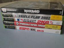 Playstation 2 RockBand & Four Games