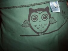 Moby Wrap Classic Baby Carrier Owl Design Sage Green 100% Cotton