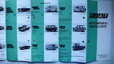 Prospekt Fiat Automobil-Preisliste mit 500F, 770S, 850, Dino, 7.1970, 12 Seiten