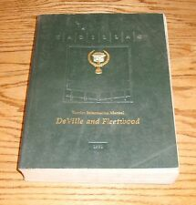 Original 1991 Cadillac DeVille & Fleetwood Service Shop Manual 91