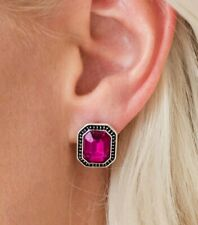 Paparazzi Grand GLAM Pink Post Earrings