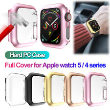 44mm For Apple Watch Series 5 4 Screen Protector Full Cover PC Protective Case