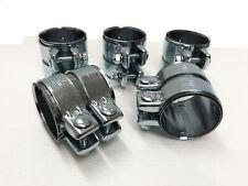 5 Stück Rohrverbinder Doppelschelle Auspuff Abgasanlage Ø 58 mm x Länge 90 mm