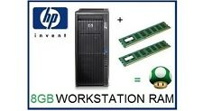 8GB (2X4GB) DDR3 ECC RDIMM Memoria Ram Upgrade HP Z620 solo workstation