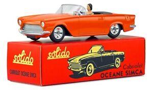 SIMCA Océane cabriolet orange ,SOL1001102, échelle1/43,SOLIDO
