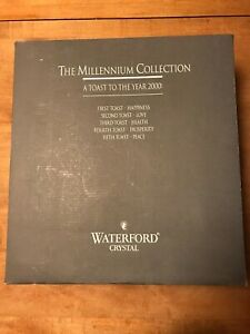 Waterford Crystal Millennium Collection TOAST TO THE YEAR 2000 Flutes Glass Love