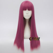 Mal Descendants 2 Long Straight Magenta Party Halloween Anime Cosplay Wig + Cap