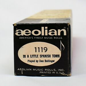 Aeolian Player Piano Roll 1119 In A Little Spanish Town Played by Dan Bollinger