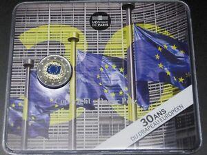 2 Euro Gedenkmünze 2015 Europaflagge im Blister offiziell coloriert OVP