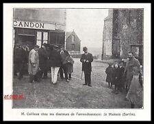 Doc.Ancien  Mamers ( Sarthe) Estaminet Bureau de tabac  Mr Caillaux   1910 -3i