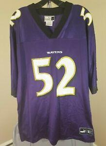 Baltimore Ravens NFL Puma Vintage Purple Ray Lewis #52 Large Jersey