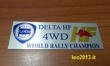 Lancia delta hf integrale turbo 4wd badge stemma targhetta tunnel