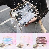 women transparent shoulder clear handbag tote shoulder crossbody jelly bags L PL