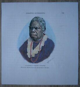 1889 Reclus print TRUGANINI, LAST TASMANIAN ABORIGINE, TASMANIA, AUSTRALIA (#62)