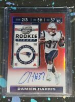 2019 DAMIEN HARRIS PANINI CONTENDERS OPTIC ROOKIE TICKET RED SP AUTO RC /199
