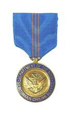 Us Agency, Navy Meritorious Civilian Service Medal, type 1 ribbon and medallion