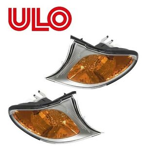 For BMW E46 325i 325xi 330i 330xi Pair Set of 2 Front Turn Signal Light OEM ULO