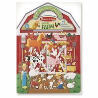 Melissa And Doug On The Farm Puffy Reusable Sticker Play NEW Toys Arts Fun Kids