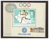 39059) Rumania 1972 MNH Olympic Games S/S