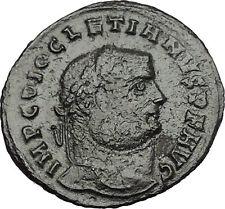 DIOCLETIAN 300AD Alexandria Big Ancient  Roman Coin Genius Protection i51202