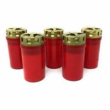 F.A.Dumont 3 Day Grave Lights Pk 5 - Red with Gold Lid
