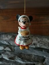 1991 Grolier Ceramic Minnie Mouse Annual Disney Ornament 3.25""