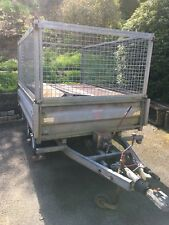 Indespension Caged Tipper Trailer (Ifor Williams tipping) 8x5 Mesh Sides