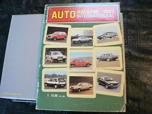 AUTO MAGAZINE 1983 INTERNATIONAAL CAR MODELS IN COLOR MASERATI,PORSCHE,DE TOMASO