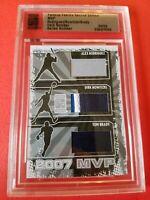 Tom Brady GAME USED JERSEY DIRK NOWITZKI PATCH ALEX RODRIGUEZ card #d2/9 07 MVP