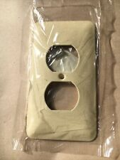 (pack of 5) Mulberry Ivory Wrinkle 79101 1G Painted Metal plug Cover (Box#4C,A)
