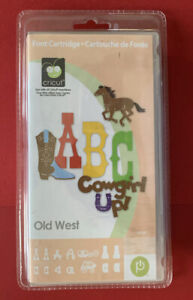 Cricut Cartridge - Old West - Cowboy Horse Western Saddle Cow Boot Coyote NEW