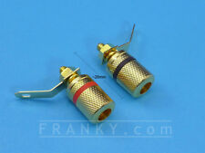 Gold Plated Binding Posts used in EEVBlog's uCurrent μCurrent (Red+Black Pair)