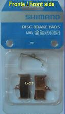 XT - Coppia pastiglie ORIGINALI Shimano M03 Metal+molla/Metal+coil x BR-M755