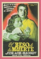 Spanish Pocket Calendar #231 Kiss of Death Crime Film Poster Victor Mature