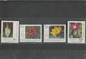 EL SALVADOR 1986  FLOWERS  SET  MNH VF