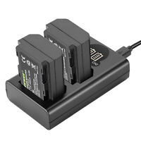 Neewer NP-FZ100 Replacement Battery Charger Set: Dual USB Charger+2pcs Batteries