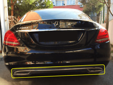Mercedes C Class W205 Comfort 2014Up Chrome Rear Bumper Streamer 3Pcs S.Steel