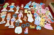 VINTAGE ASSORTMENT PAPER DOLLS BRIGITTE AND OTHERS CLOTHES ACCESSORIES 1971