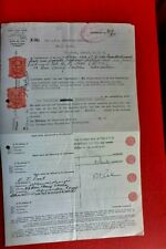 PALESTINE  STAMP DUTY TRANSFER OF STOCK CERTIFICATE LONDON 1934