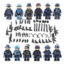 6pcs Military Army SWAT War Soldier Custom Minifigures Weapons Fits Lego MYS06