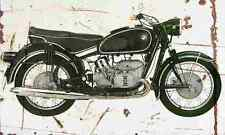 BMW R60 2 1967 Aged Vintage Photo Print A4 Retro poster