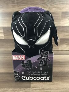 Cubcoat Marvel 2 In 1 Transforming Hoodie Black Panther Size 2 New With Tags