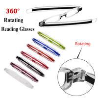 Presbicia 360 grados de rotacion Anti - fatiga Gafas de lectura Plegable