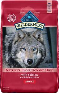 Blue Buffalo Wilderness Salmon Recipe Grain-Free Dry Dog Food 24-lb bag