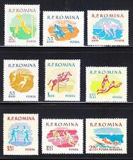 Romania 1959 MLH Mi 1802-1810 Sc 1288-1295,C72 Motorcycle,Soccer,Ice hockey..