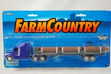 ERTL Farm Country 1:64 PETERBILT Semi-Truck & LOG Trailer with TIMBER Load MOC