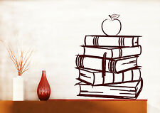 Wall Vinyl Decal Books Stack Reading School Libraries Living Room Decor z4712