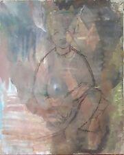 PORTRAIT DE JEUNE FILLE. HUILE SUR TOILE. SANS SIGNATURE. ESPAGNE. SIÈCLE XIX-XX